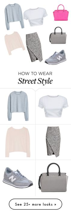 """Street style"" by hd-md on Polyvore featuring H&M, New Balance, MICHAEL Michael Kors, Michael Kors, Banjo & Matilda, AQ/AQ and MANGO"