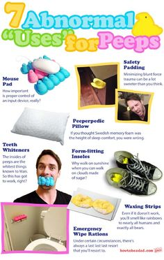7 Abnormal Uses for PEEPS Funny Picture