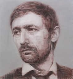 Colin Davidson...........Neil Hannon (drawing)  2013 graphite, crayon and pastel on paper 122 x 112 cm.