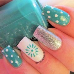 Cute And Easy Nail Art Designs That You Will Love – Nail Polish Addicted Get Nails, Fancy Nails, Love Nails, Pretty Nails, Simple Nail Art Designs, Best Nail Art Designs, Easy Nail Art, Awesome Designs, Fabulous Nails