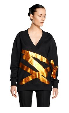 Carin Wester PreSS15 / Beon collage sweater Black foil / http://www.carinwester.com