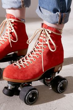 UO Exclusive Suede Roller Skates Love red anything! Especially Skates! Especially Skates!