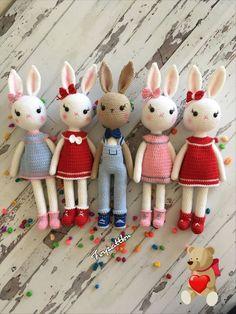 Irresistible Crochet a Doll Ideas. Radiant Crochet a Doll Ideas. Amigurumi Free, Crochet Amigurumi, Amigurumi Doll, Crochet Dolls, Crochet Toys Patterns, Stuffed Toys Patterns, Doll Patterns, Crochet Rabbit, Cute Crochet