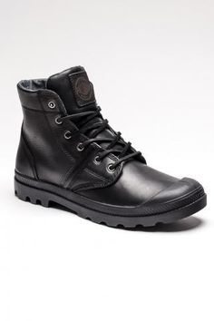 Palladium Pallabrouse Leather.  Like a fresh, new, worn-in pair of combat boots.
