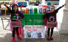 Girl Scout Cookie Booth Superhero theme. Turn that cookie box into a skirt!