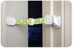 Door Buddy - Green Polka Dots. No Cat Door Needed. Door Buddy allows cats to enter easily. Dogs stay out.