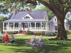 Southern Country Home, 063H-0213