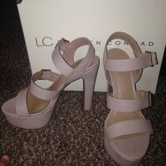 Lauren Conrad heels super cute  I wore these once to a wedding that is it! Perfect condition..great for a party, date night, or goin to the club!  Lauren conrad Shoes Heels