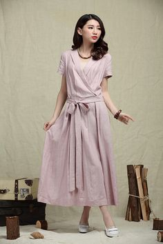Hey, I found this really awesome Etsy listing at https://www.etsy.com/listing/188683474/long-linen-dress-in-voilet-maxi-casual
