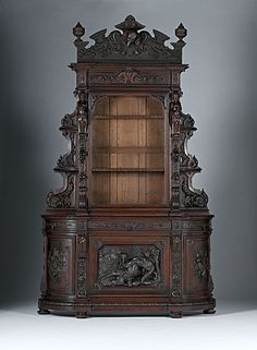 (Chapter 10): This is an example of a Renaissance Revival cabinet, it has a very intricate detail to it.