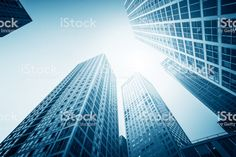 Modern Urban Skyline,looking up royalty-free stock photo