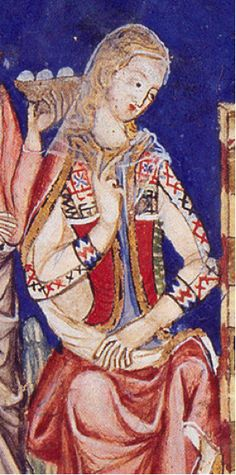Book of Games 13th Century Spain  Camisa Margomada Lacing opposite the Saya Encordada Lacing