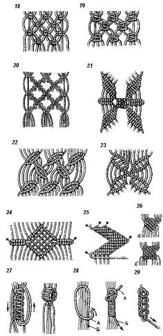 Макраме - узелки на память (список основных узлов для плетения изделий): женский интернет журнал - Записки Дикой Хозяйки