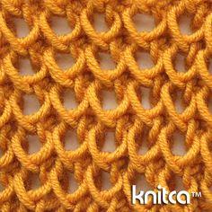 Right side of knitting stitch pattern – Ribbing 6 : www.knitca.com
