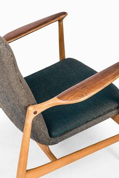Rare Easy Chair Designed by Finn Juhl and Produced by Bovirke in Denmark | From a unique collection of antique and modern lounge chairs at https://www.1stdibs.com/furniture/seating/lounge-chairs/