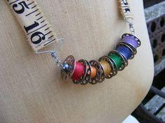 Thread Bobbin by YesterdaysTrashArt, $52.00 Jewelry Crafts, Jewelry ...