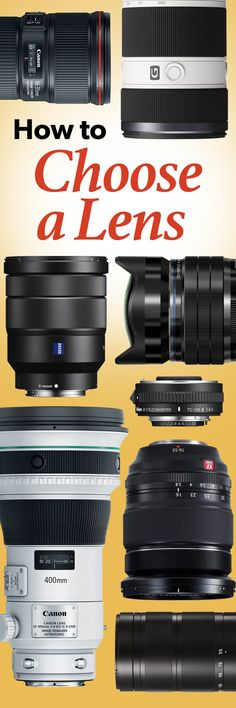 Not sure what kind of lens to get for your SLR? We'll explain common lens terms and offer tips on which lens to use in common shooting scenarios. Dslr Photography Tips, Photography Lessons, Photography For Beginners, Photography Equipment, Photography Business, Photography Tutorials, Creative Photography, Digital Photography, Amazing Photography