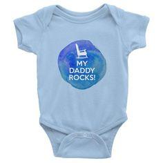 My Daddy Rocks Blue short sleeve one-piece