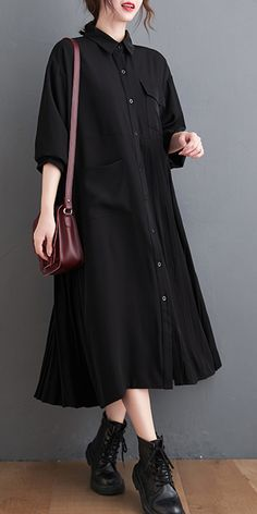 Spring Dresses Casual, Summer Dresses For Women, Fall Dresses, Nice Dresses, Cotton On Outfits, New Long Dress, Modest Wedding Dresses With Sleeves, Diy Clothes And Shoes, Black Tunic Dress