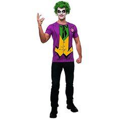 Joker Shirt and Wig Costume Kit - Superhero Costumes at Escapade Comic Costume, Dark Costumes, Halloween Costumes For Teens, Halloween 2018, Gotham, Marvel Dc, Joker Outfit, Dc Comics, Costumes