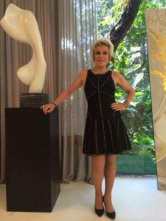 Vestido preto de Ana Maria Braga no #MaisVocePT de 16 de outubro