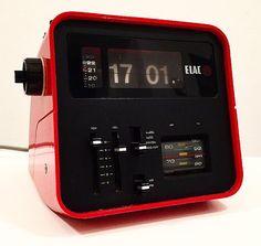 Awesome flip clock / radio from german ELAC 1972. by Deerstedt