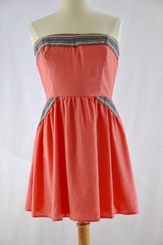 Charlotte Russe Coral Strapless Dress #MeandMyCloset