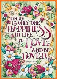 To love & be loved