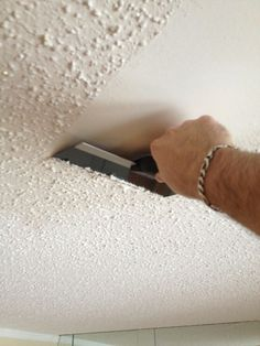 how to plank a popcorn ceiling - used lowe's pine plank tongue and