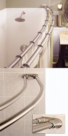 Shower Curtain Rods 168132: Moen Adjustable Curved Shower Rod 72 X 72  Brushed Nickel  U003e BUY IT NOW ONLY: $36.42 On EBay! | Pinterest | Shower  Curtain Rods ...