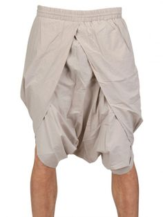 sarongs for men | ... By Damir Doma Cotton Poplin Sarong Shorts in Beige .Looks like a dhoti with elastic waistband, very cool.