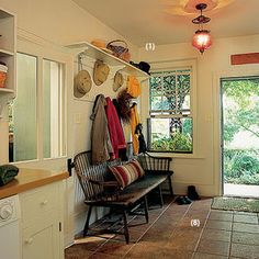 A garage will convert to a good space for laundry room/mudroom/powder room/garden storage.