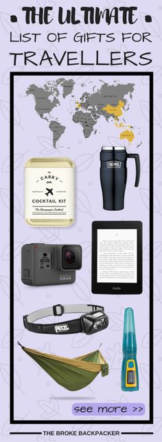 The ultimate list of budget, mid-range and splurge gifts for people who travel - find the perfect gifts for backpackers, adventurers and travellers