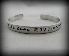 GIRL boss Revolution  Hand Stamped Bracelet  Girl by kimgilbert3