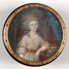 Round box with miniature portrait of a lady by Louis-Marie Sicardi,1780s
