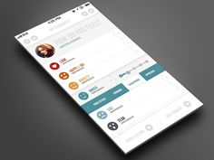Clean and Progressive iOS 7 Mobile App design by bigbadaboomstudio