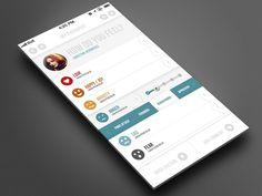 Clean and Progressive iOS 7 Mobile App design by bigbadaboomstudio
