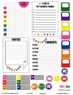 Freebie: Journal cards, tabs and date elements