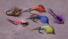 These are terrific Fall/Winter steelie flies that I use on NY's Salmon River.  They are easy to tie and I focus on bright blue, chartreuse, black and purple in sizes 12, 14 and 16.