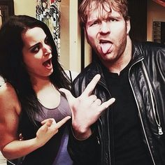 Paige and Dean Ambrose I love it!