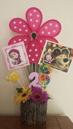 masha y el oso cumpleaños decoracion - Buscar con Google