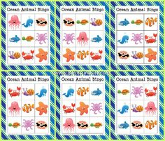 Ocean Animal Bingo {free ocean printables} - Gift of Curiosity Ocean Games, Ocean Activities, Free Preschool, Preschool Activities, Vocabulary Activities, Ocean Words, Bingo For Kids, Sea Animal Crafts, Japanese Language