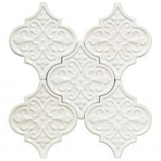 Byzantine Florid Radiance Bianco Ceramic tile