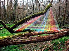 Self-taught artist Sebastien Preschoux. A prism I-wonder-what-material?