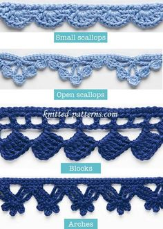 Crochet Edgings And Trims Tutorial - (knitting-patterns)