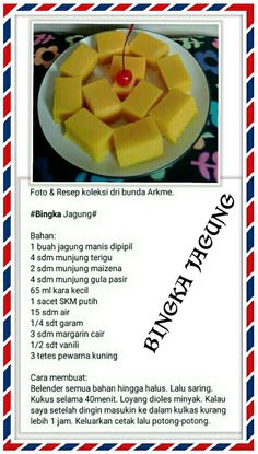 Snack Recipes, Dessert Recipes, Cooking Recipes, Snacks, Sambal Recipe, Resep Cake, Malay Food, Traditional Cakes, Pudding Desserts
