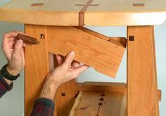 Secret stash box built into fine wooden furniture. Maybe a hinge on one side to drop down and two dowels as pins to hold the open side up in 'hiding' place?