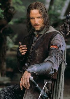 Aragorn -- i mean, what other guy looks good in long hair? <---- You clearly have never seen Legolas, you idiot. Aragorn is really cool but so is Legolas Gandalf, Aragorn Lotr, Lord Of Rings, Fellowship Of The Ring, O Hobbit, The Hobbit Movies, The Middle, Middle Earth, Thranduil