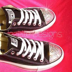 Bling Converse Glitter Kicks Black Bedazzled by JezelleDesigns Navy Pink 604815e20
