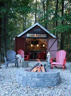 Our Kloter Farms customers are awesome! They turned this New England Colonial into their very own pub shed!